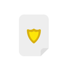 icon concept of guard shield inside paper vector image
