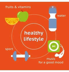 Infographic of healthy lifestyle vector