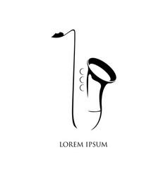 jazz music logo saxophone symbol vector image