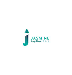Letter j blue colour 3d natural business logo vector