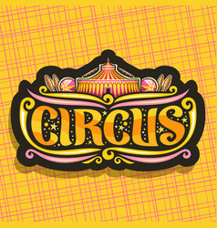 Logo for night circus vector