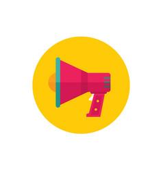 Loudspeaker - concept icon in flat graphic design vector