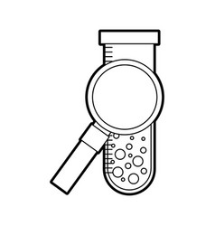 magnifying glass with tube test vector image