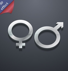 male and female icon symbol 3D style Trendy modern vector image