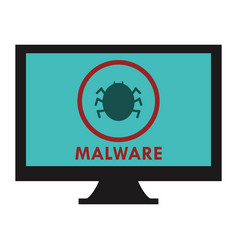 Malware icon vector