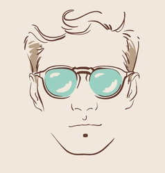 man in glasses eps 10 vector image