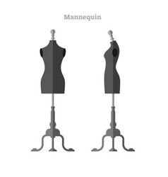 mannequin female front and side view vector image