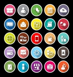 Mobile flat icons with long shadow vector