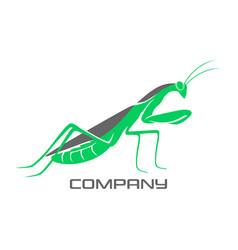 modern mantis logo vector image