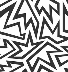 monochrome foliage seamless pattern vector image