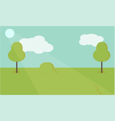 Nature landscape background cute simple vector
