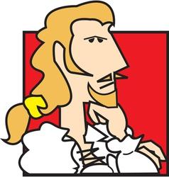 Nobleman cartoon vector image