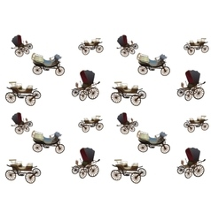Old Wagon for the Horses Seamless pattern vector image