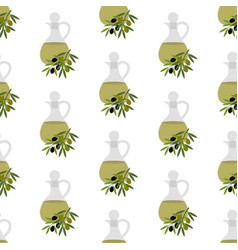 olive oil seamless pattern vector image