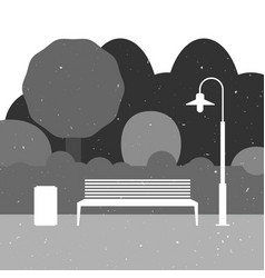 Outdoor furniture silhouette vector