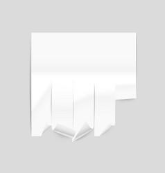 paper ad sheet mockup vector image vector image
