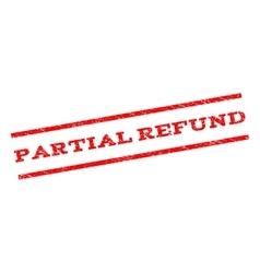 Partial Refund Watermark Stamp vector