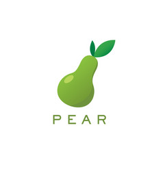 pear logo and text for designs vector image