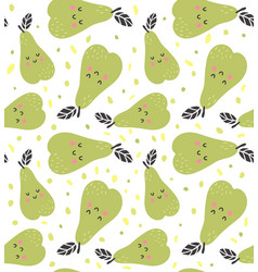 Pear pattern vector