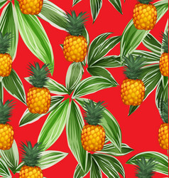 pineapples seamless patter10 vector image