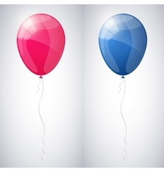 Pink and blue shiny glossy balloons vector