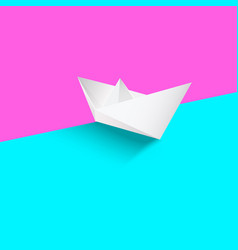 realistick white paper boat vector image