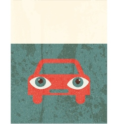 Retro grunge poster Car vector image