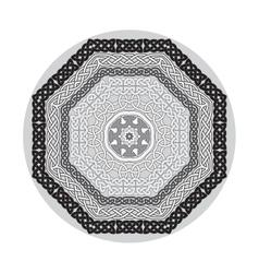 Round ornamental shape celtic patterns vector
