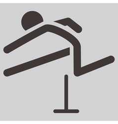 Running hurdles icon vector
