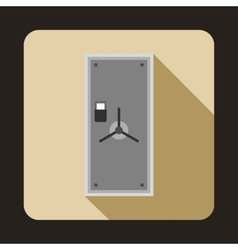 Safe door icon in flat style vector