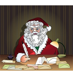Santa and letters vector