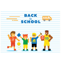 School bus back to background design vector
