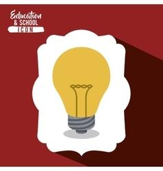 School light bulb inside frame design vector