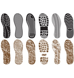 set footprints vector image