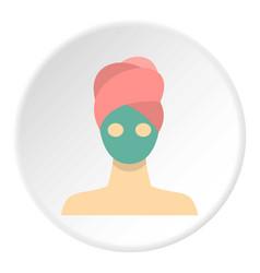 Spa facial clay mask icon circle vector