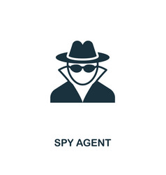 spy agent icon premium style design from security vector image