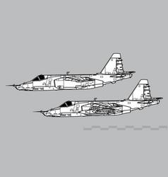 Sukhoi su-25 frogfoot vector