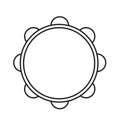 tambourine music instrument vector image