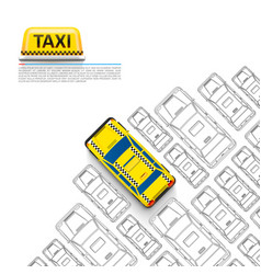 taxi car signboard on white background vector image