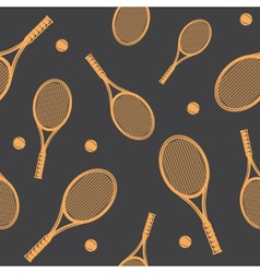 Tennis rackets seamless pattern vector image