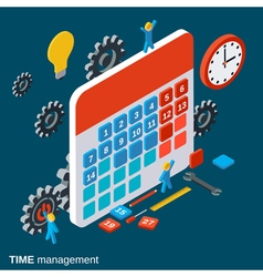 Time management work planning concept vector image