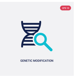 Two color genetic modification icon from vector