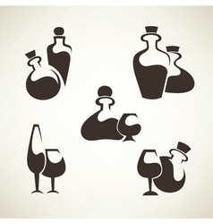 wine and alcohol collection vector image