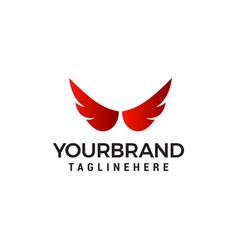 Wings logo design concept template vector