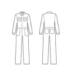 Workers jumpsuit overall technical fashion vector