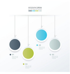 circle hanging concept green blue gray color vector image vector image