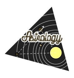 Color vintage astrology emblem vector image