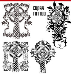 cross tattoo vector image
