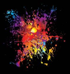 grunge rainbow splat vector image vector image