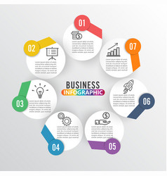 infographics 7 options template for vector image